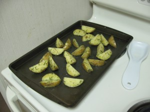 Fries on a sheet pan