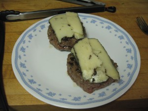 Burgers with truffle cheese
