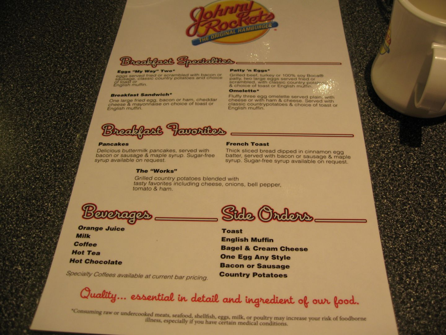 johnny rockets breakfast menu Quotes