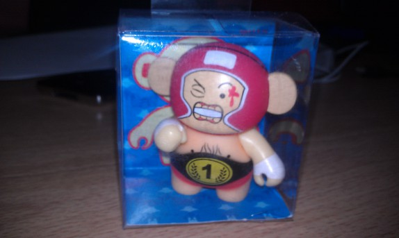 Wrestling monkey figurine