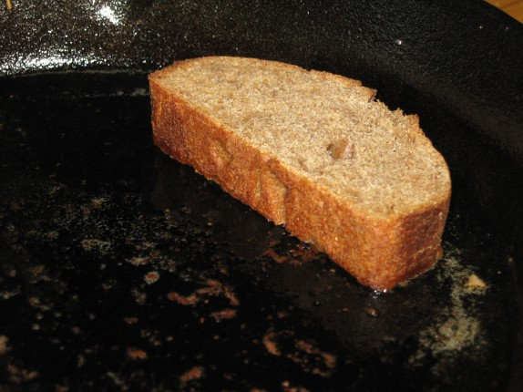 Bread frying