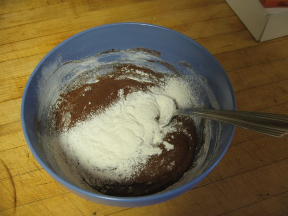 The rest of the flour in