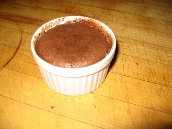 Chocolate Fondant in ramekin