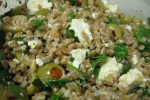 Meyer lemon inspired farro salad