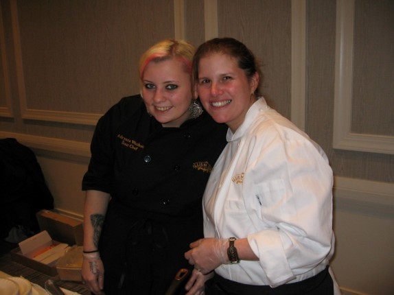 Sous Chef Adryana and Chef Ortega