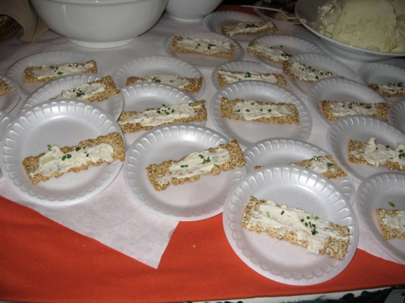 Cella Bistro's Smoked Trout topped crackers