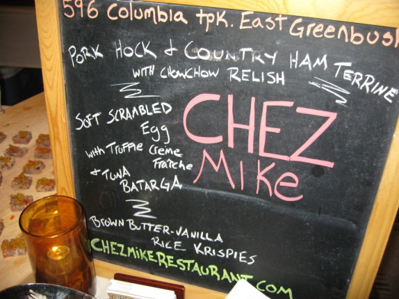 Chez Mike's Sign
