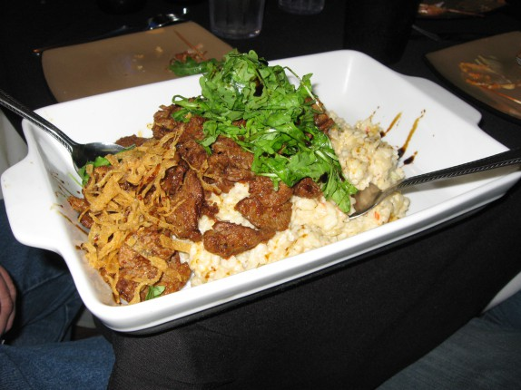 Spicy curry beef over wasabi risotto (my favorite appetizer of the afternoon)