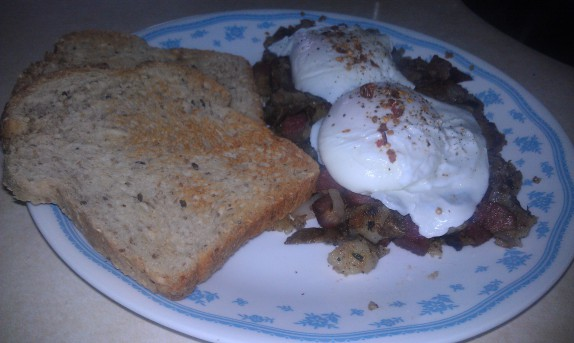Corned beef hash mega breakfast