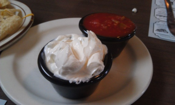 Sour cream and salsa