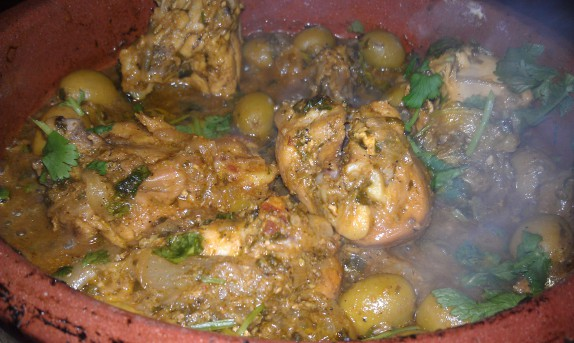 chicken with preserved lemons and green olives 2