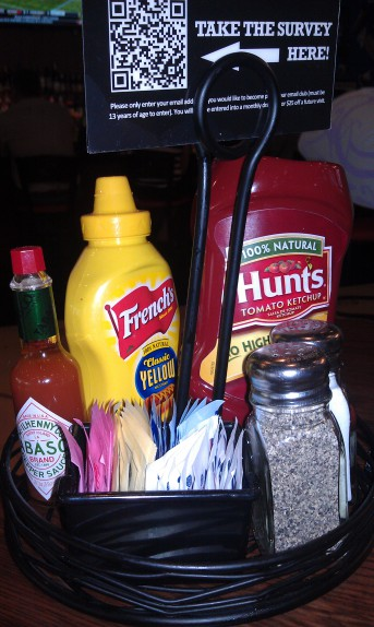 Condiments on every table