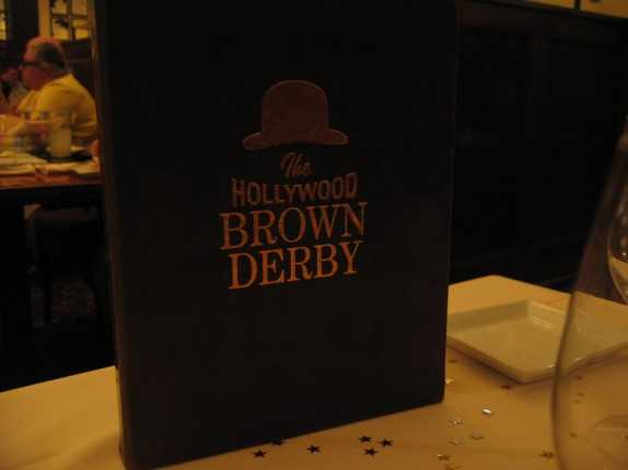 Brown Derby menu