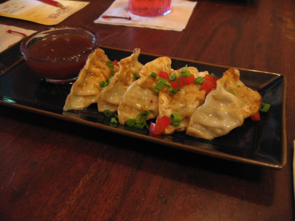 Pork Pot Stickers Pan seared or steamed, soy lime dipping sauce