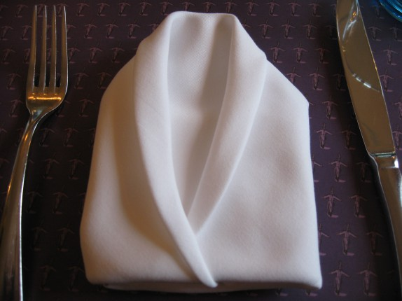 Fancy napkin