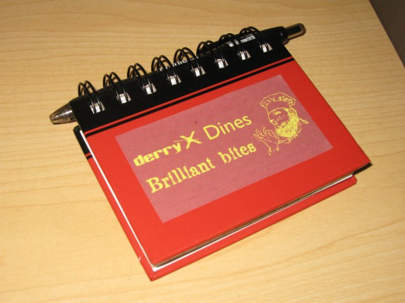 Brilliant bites notebook