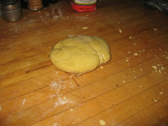 Dough after kneading