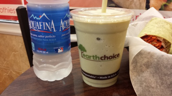Macha green tea vanilla smoothie