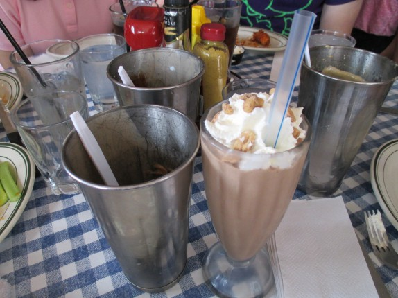 One shake and two tumblers