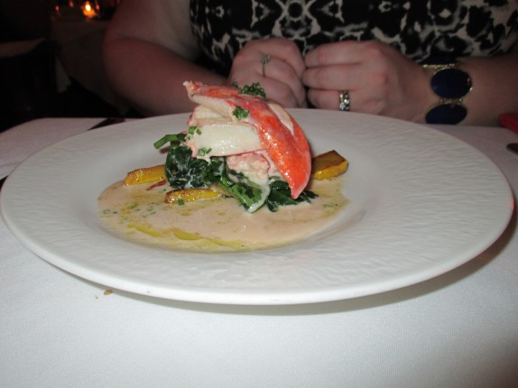 Butter-Poached Maine Lobster (Paffenroth Gardens spinach, grilled lemon)