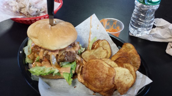 Dave's gigantic bison burger