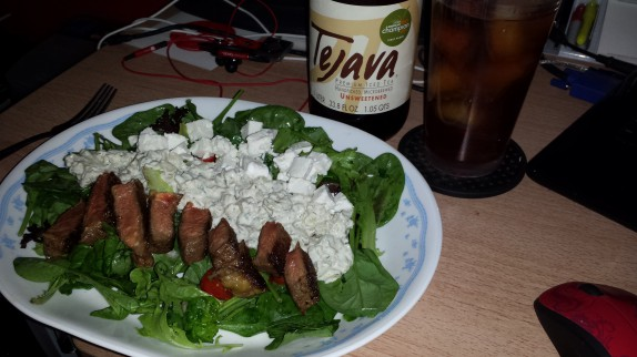 Bison gyro salad