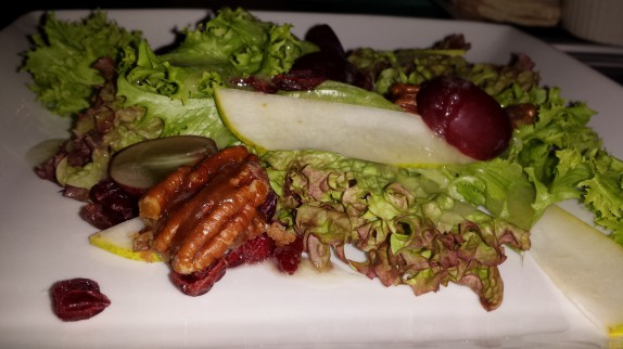 GREENS pears, cranberries, grapes, granny smith vinaigrette