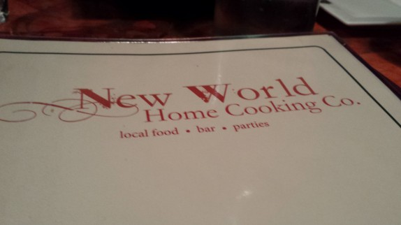 New World Home Cooking Menu