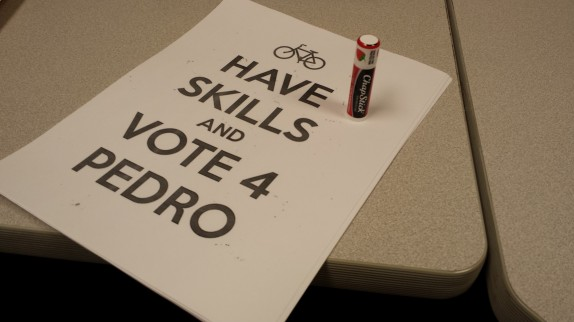 Vote for Pedro and Chapstick