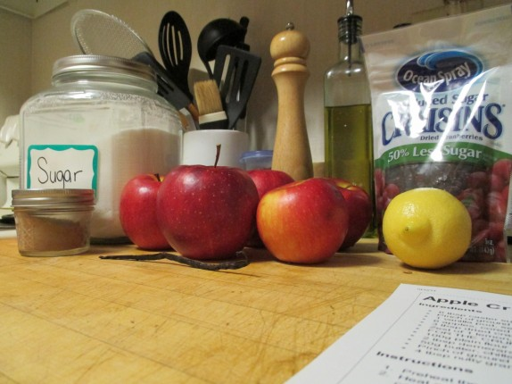 Ingredients for the apple base