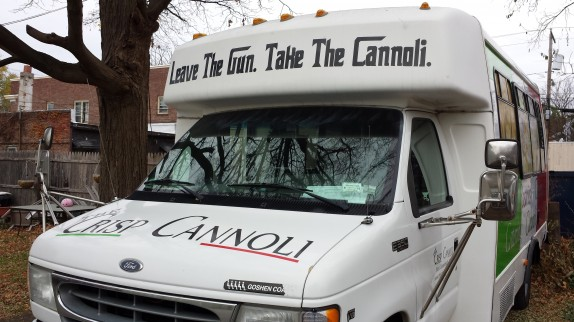 """Leave the gun. Take the Cannoli"" truck"