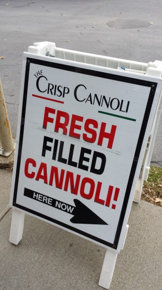 Fresh filled cannoli