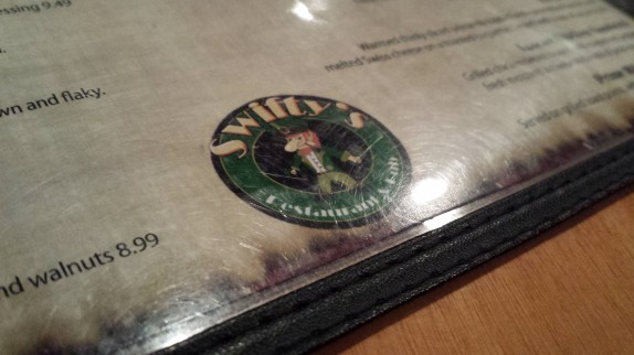 Swifty's logo on menu
