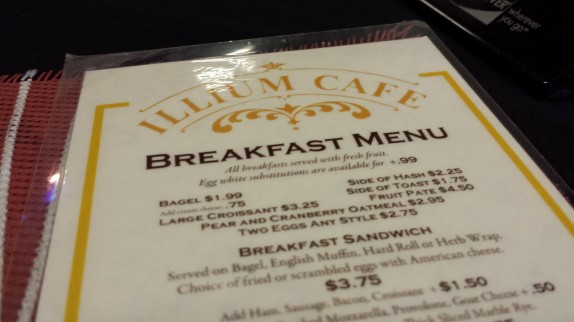 Illium cafe breakfast menu