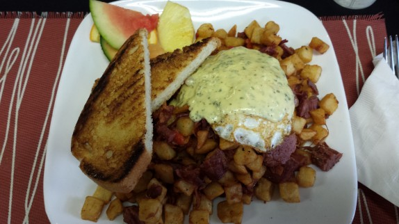 Corned beef hash at Illium Cafe