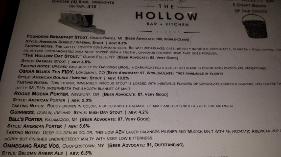 The Hollow Beer List