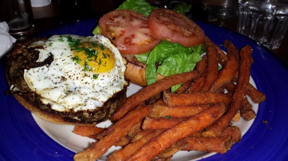 The Hollow Burger (FRIED EGG, HABANERO KETCHUP - $10)