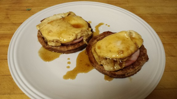 Maple syrup fried eggs