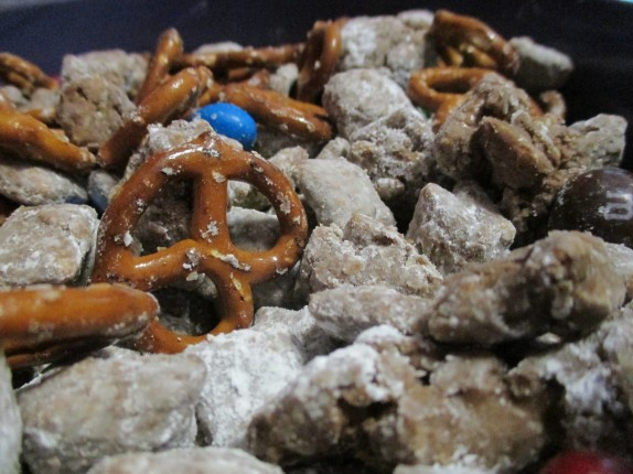 Nutella and Peanut butter puppy chow