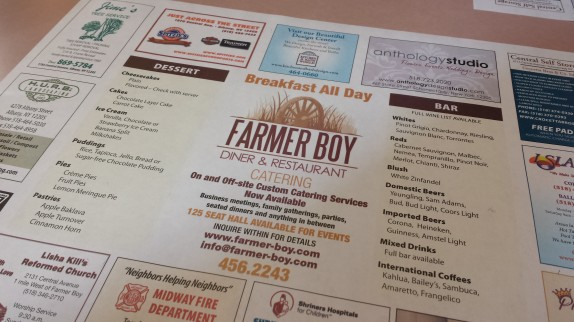 Farmer Boy placemat