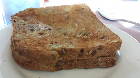 Multigrain toast at Farmer Boy
