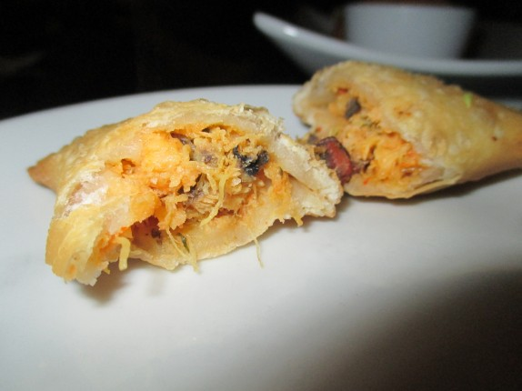 Inside of a lobster empanada