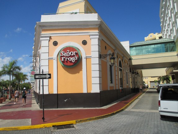 Senor Frogs in Old San Juan