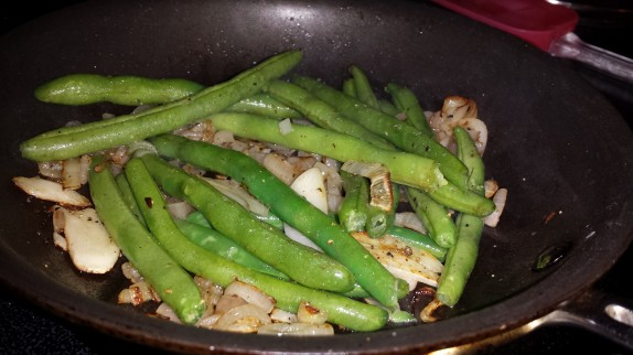 Sauteing string beans