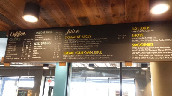 Visiting whole foods for Whole food juice bar menu