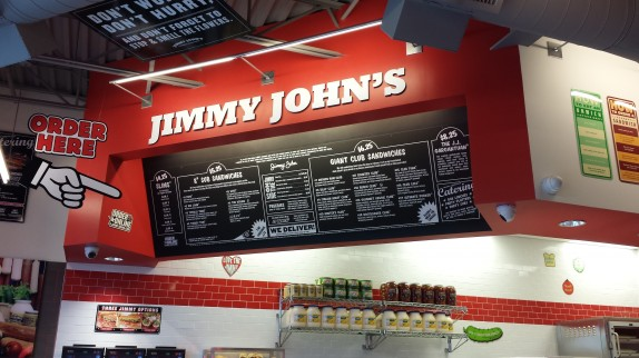 Jimmy John's Menu Board