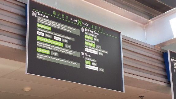 Shake Shack Menu Board