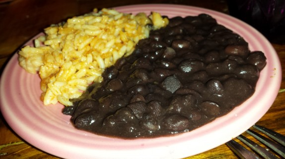 Small dish of rice and beans