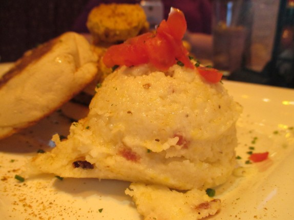 Stone Ground Grits with Diced Bacon Mascarpone, Chives, Tomatoes & Heavy Cream, made with Applewood-Smoked Bacon
