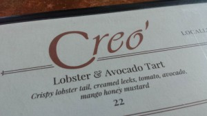 Creo' new menu